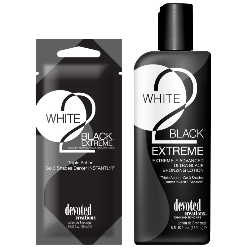 Devoted Creations, White 2 Black Extreme 260 ml - solární kosmetika