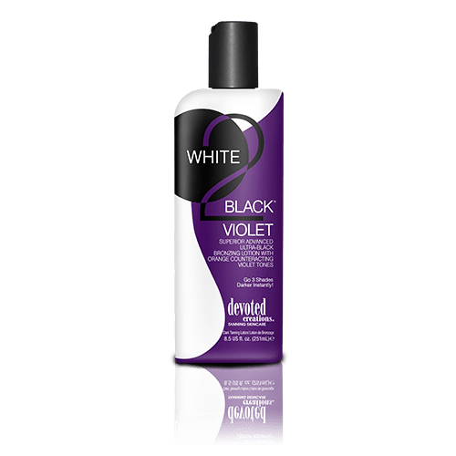Devoted Creations, White 2 Black Violet 260 ml - solární kosmetika