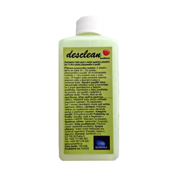 Sun World Dezinfekce DESCLEAN 250ml koncentrát 1_39 250ml jablko