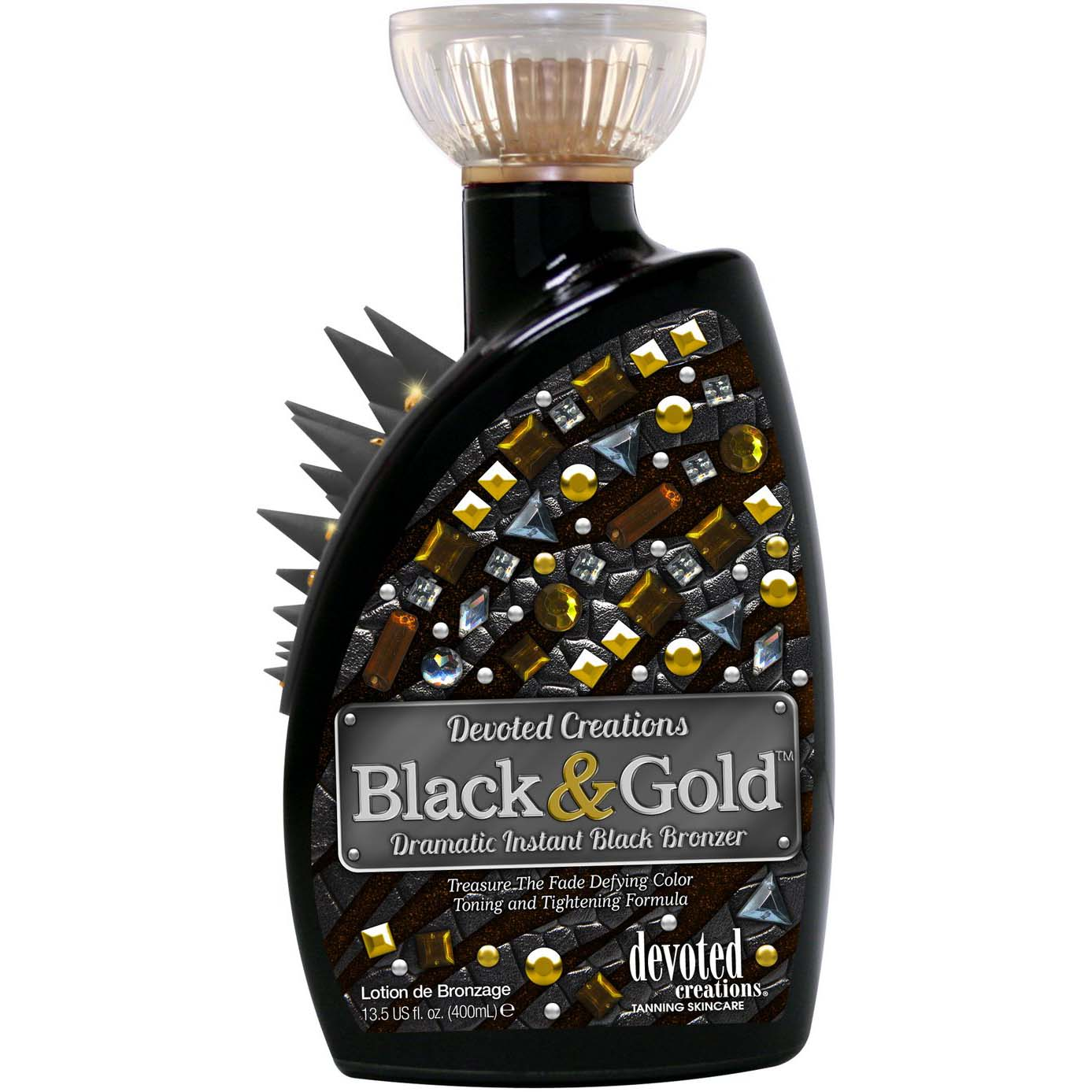 Devoted Creations Color Rush Black and Gold 400 ml