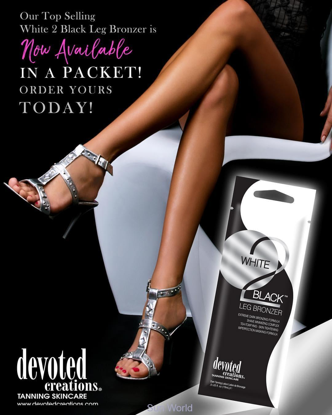 Devoted Creations, White 2 Black LEG Bronzer 150 ml - solární kosmetika